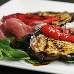 Grilled Aubergines with Prosciutto