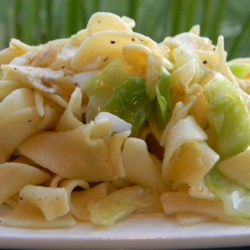cabbage balushka or cabbage and noodles printer friendly