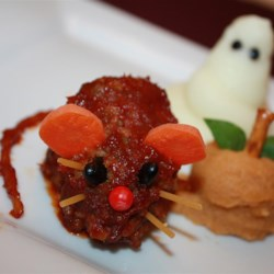 Halloween main dish recipes allrecipes halloween bloody baked rats recipe and video this is a fun inexpensive creepy forumfinder Image collections
