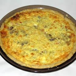 Edam Shrimp Quiche