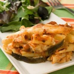 Eggplant-Ziti Parmesan Recipe