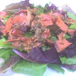 Smoked Salmon & Watercress Salad With Red Onion-Caper Vinaigrette Recipe