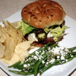 Best Burger Ever & Green Bean and Feta Salad