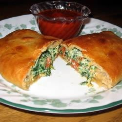 Unbelievable Spinach Calzones
