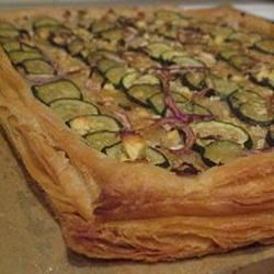 Zucchini & Three Onion Tarte