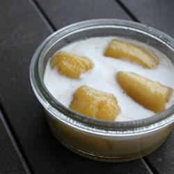 Sweetened Bananas in Coconut Milk