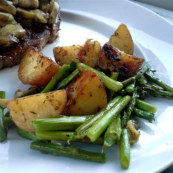 oven roasted red potatoes and asparagus printer friendly