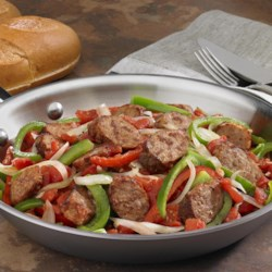 Johnsonville Italian Sausage, Onions & Peppers Skillet