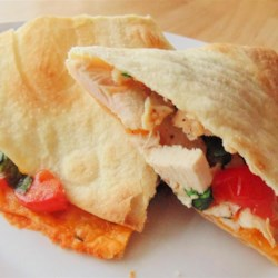 Chicken, Tomato, and Spinach Quesadillas