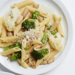 whole family pasta with broccoli and cauliflower printer friendly