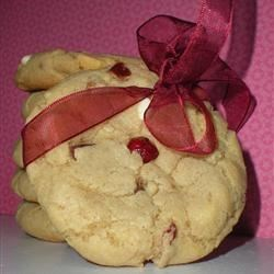 White Chocolate and Cranberry Cookies.