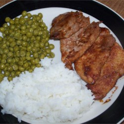 Lemon Barbeque Pork Chops