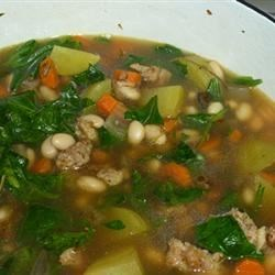 Savory Kale, Cannellini Bean, and Potato Soup Recipe