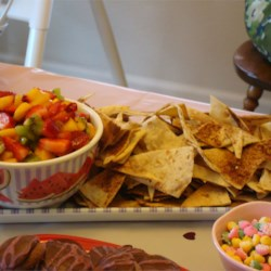 Fruit Salsa with Cinnamon Tortilla Chips Recipe