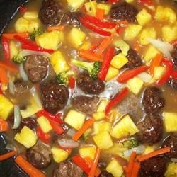 Sweet and Sour Meatballs (Suan T'ien Niu Jou Po Lo La Tzu) Recipe