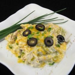 White Chicken Enchilada Slow-Cooker Casserole