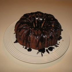 Banana Pudding Cake with Chocolate Frosting