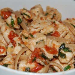 Fresh Herbs, Garlic, Chicken & Olive Oil Whole Wheat Fettucine