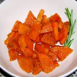 Baked Sweet Potatoes with Ginger and Honey