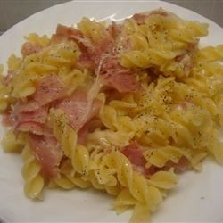 Quick Ziti with Swiss Cheese and Ham Recipe