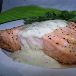 Photo of Grilled Salmon Fillets with a Lemon, Tarragon, and Garlic Sauce by Austin Geraldson