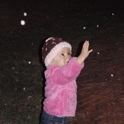 Catching the flakes :)