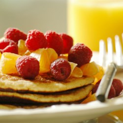 Dad's Double Whole Grain Pancakes Recipe