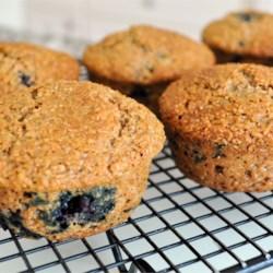 low fat blueberry bran muffins printer friendly