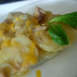 Photo of Slow Cooker Scalloped Potatoes with Ham by Big Mama Kaboose