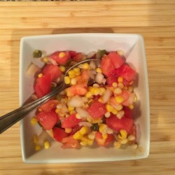 Watermelon and Corn Salsa