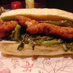 chicken cutlet, broccoli rabe, long hots and provolone Mmmmmmmm