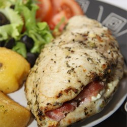 Feta Cheese and Bacon Stuffed Breasts Recipe