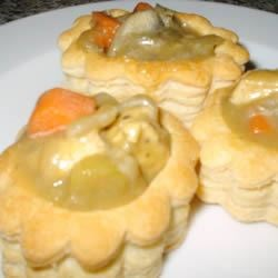 Chicken and Asparagus Vol-au-vent Recipe