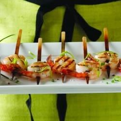 Photo of Shrimp Lollipops with Pineapple Chili Dipping Sauce by Callisons Fine Foods, recipe developed by Kathy Ca