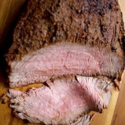 "Grilled Flank Steak ""Pastrami"""