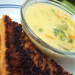 Cheesy Broccoli and Vegetable Soup Recipe