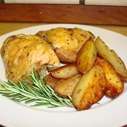 Crispy Rosemary Chicken and Fries Recipe