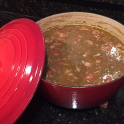 dupre family chicken and sausage gumbo printer friendly