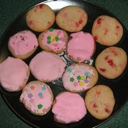 Photo of Maraschino Cherry Almond Cookies by Kimmi