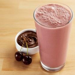 chocolate cherry peanut butter smoothie printer friendly