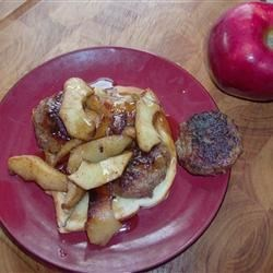 Photo of Sausage Sandwich with Sauteed Apple Slices by Kimber