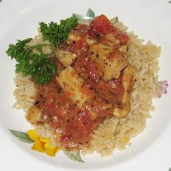 Scampi with tomato sauce
