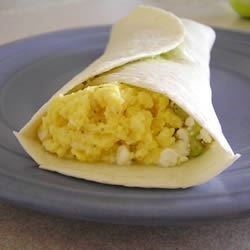 Easy Egg and Avocado Breakfast Burrito Recipe