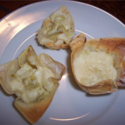 Image of Artichoke Wonton Cups, AllRecipes