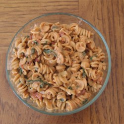 Spinach Pasta with Rotini