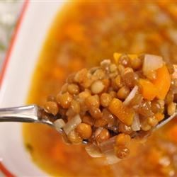 Greek Lentil Soup (Fakes) Recipe