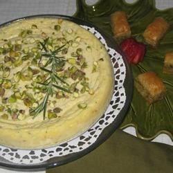 Ricotta tart and baklava