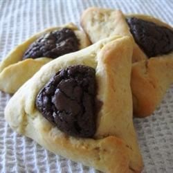 Hamentashen with Brownie Filling Recipe