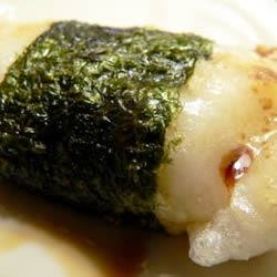 Broiled Mochi with Nori Seaweed Recipe