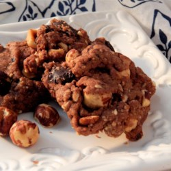 Double Dark Chocolate Hazelnut Cookies